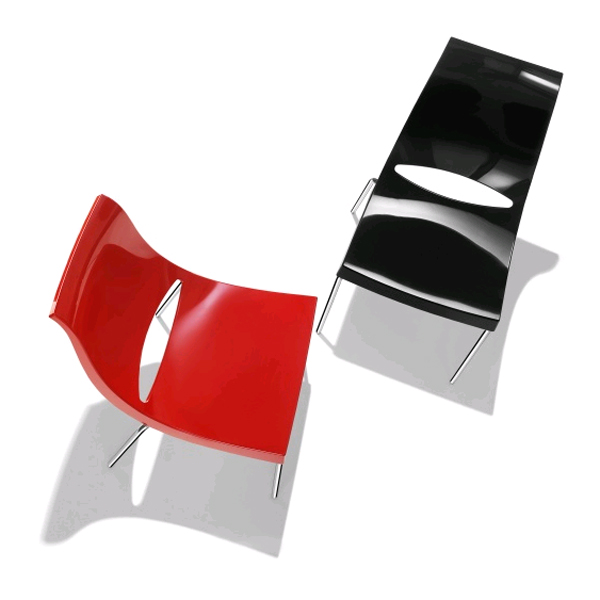 Chiacchiera Glossy chair from Parri