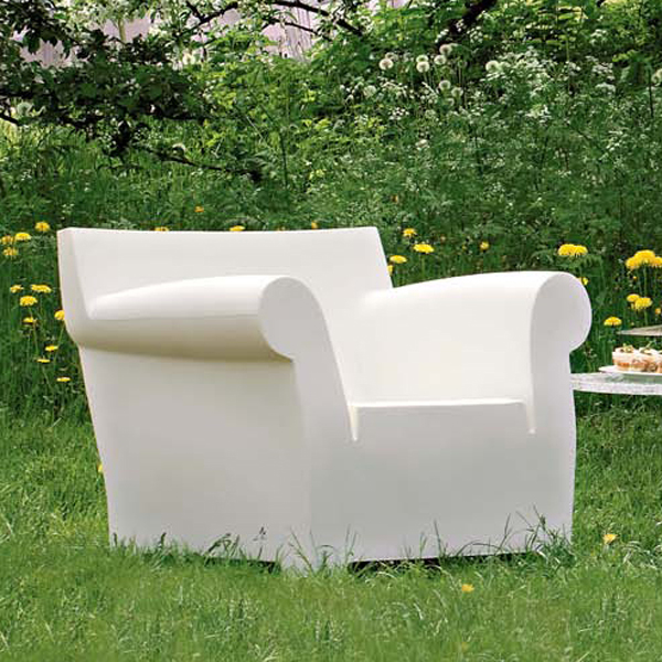 Bubble Club Chair lounge from Kartell, designed by Philippe Starck