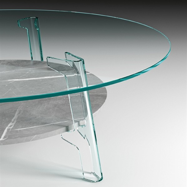 Flute coffee table from Fiam