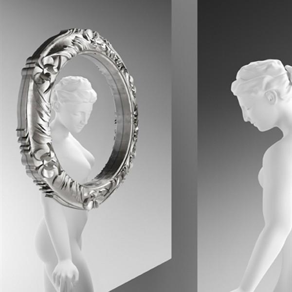 Ritratto Baroque mirror from Fiam