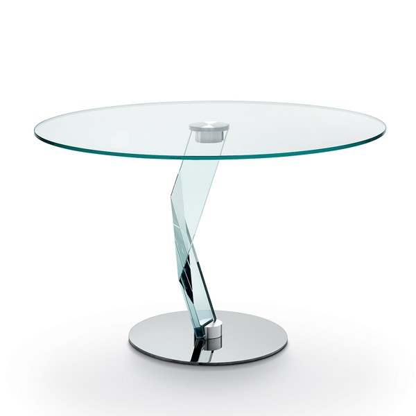Bakkarat Alto Round dining table from Tonelli, designed by D'Urbino and Lomazzi
