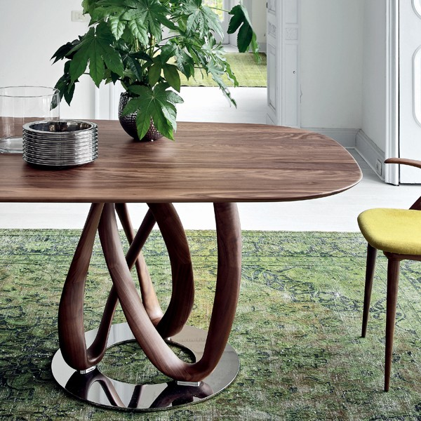 Infinity Wood 2 Base  dining table from Porada, designed by S. Bigi