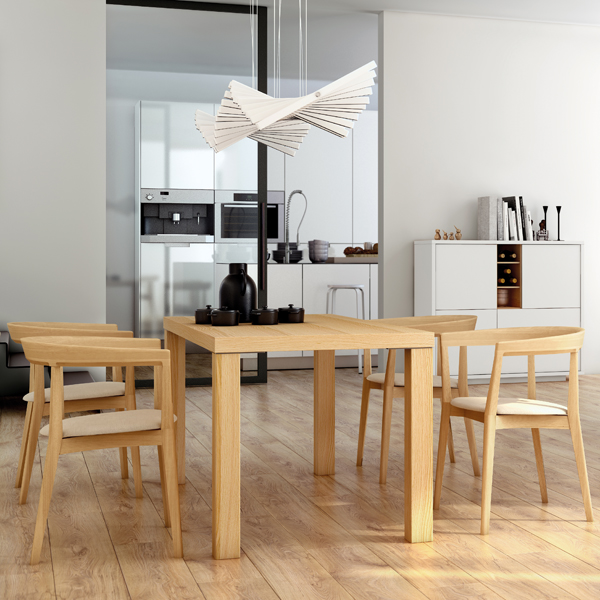 Multi Square Legs dining table from TemaHome