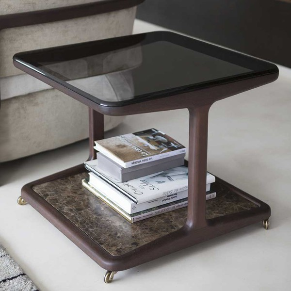 Script 60 end table from Porada, designed by E. Gallina