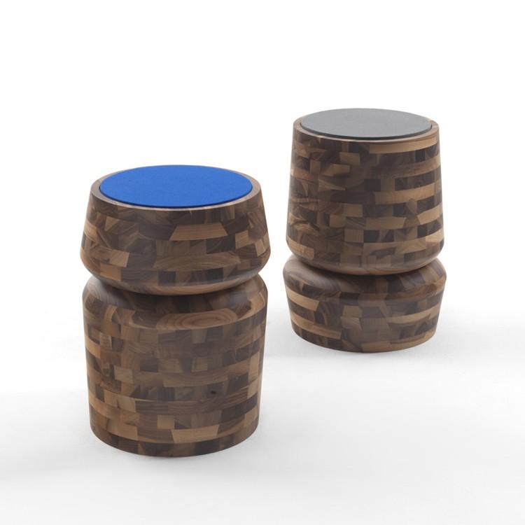 Bouchon stool from Porada, designed by C. Ballabio