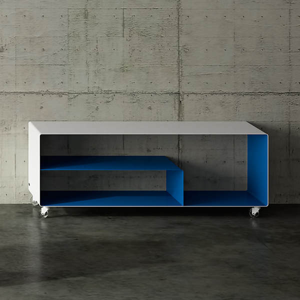 Mobile Line Sideboard with Angle Shelf storage from Muller