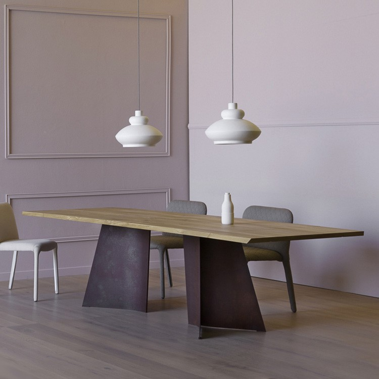 Maggese Plus dining table from Miniforms, designed by Paolo Cappello
