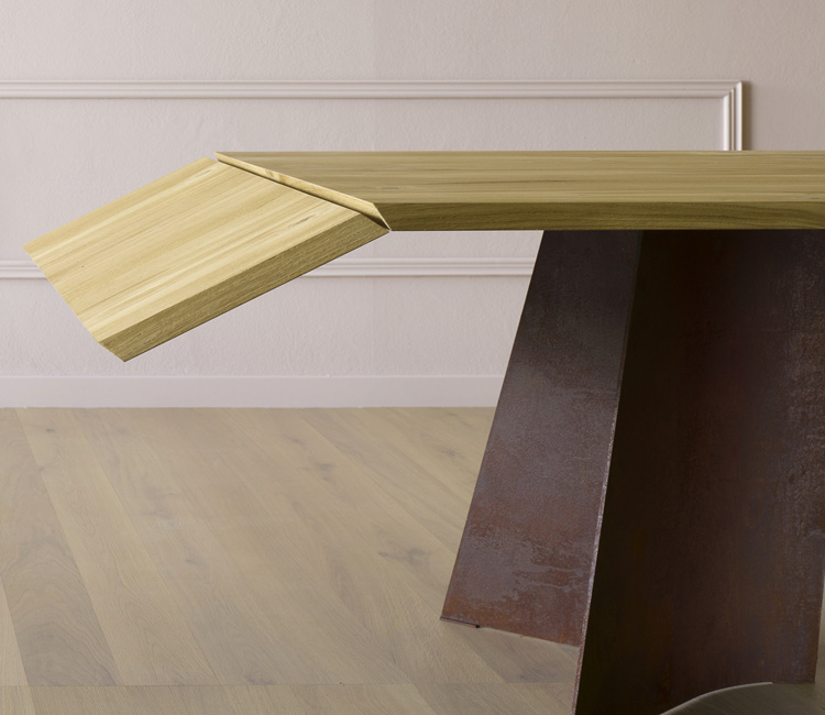 Maggese Plus, dining table from Miniforms