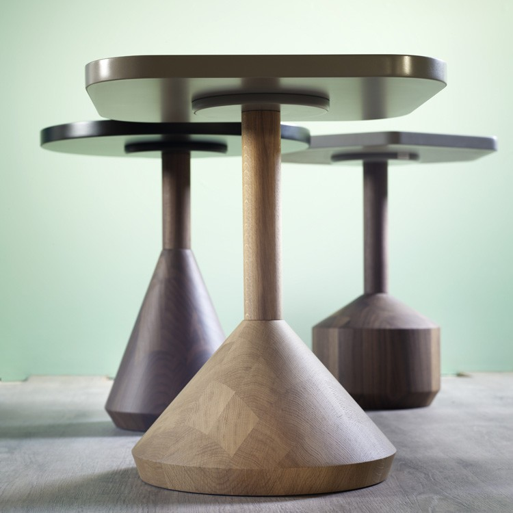 Pezzo end table from Miniforms, designed by Stephanie Jasny