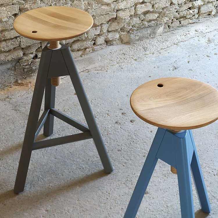 Vitos stool from Miniforms, designed by Paolo Cappello