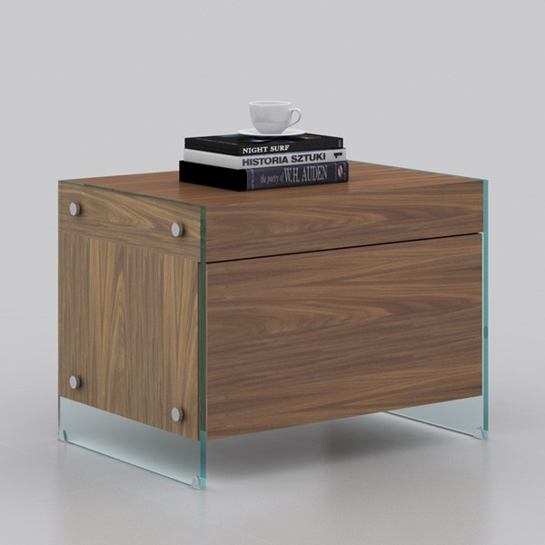 Il Vetro Nightstand CB-111 end table from Casabianca