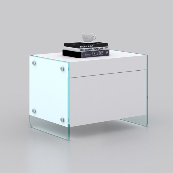 Il Vetro Nightstand CB-111, end table from Casabianca