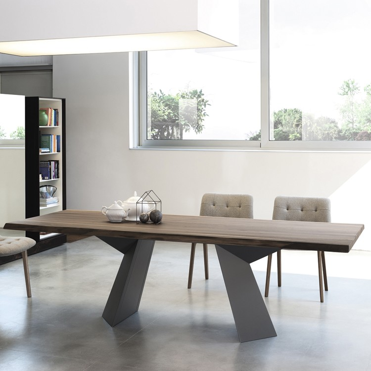 Bontempi Fiandre Wooden Dining Table Contemporary Dining Room Furniture Ultra Modern