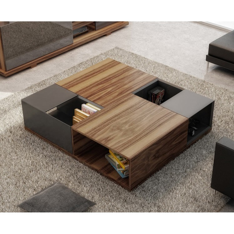 excellent modern living room center tables | Huppe Move Center Table 9900 Wooden Coffee | Contemporary ...