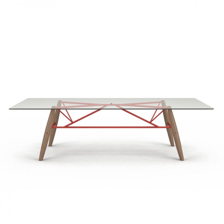 Connection Dining Table (Glass Top) from Huppe