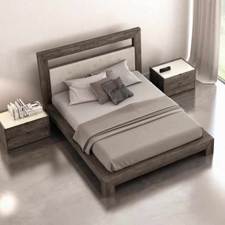Huppe Cloe Bed Upholstered Headboard Wooden Bedroom Furniture Ultra Modern