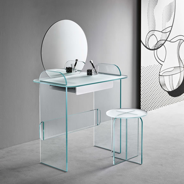 Opalina Sgabello end table from Tonelli, designed by Cristina Celestino