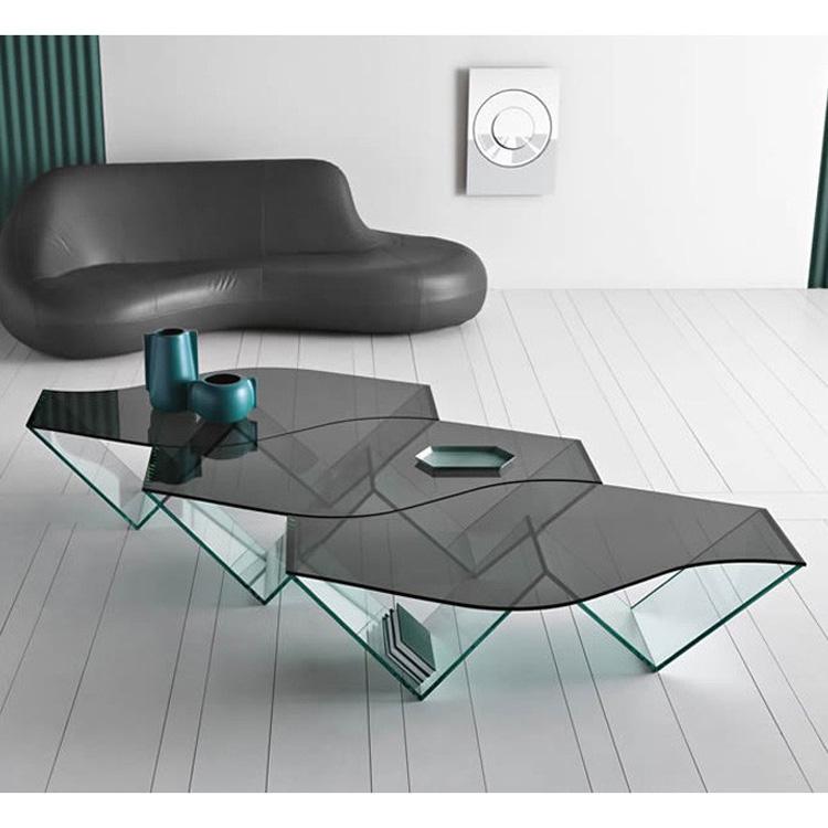 Terrific Tonelli Pulse Glass Coffee Table Contemporary Living Room Inzonedesignstudio Interior Chair Design Inzonedesignstudiocom