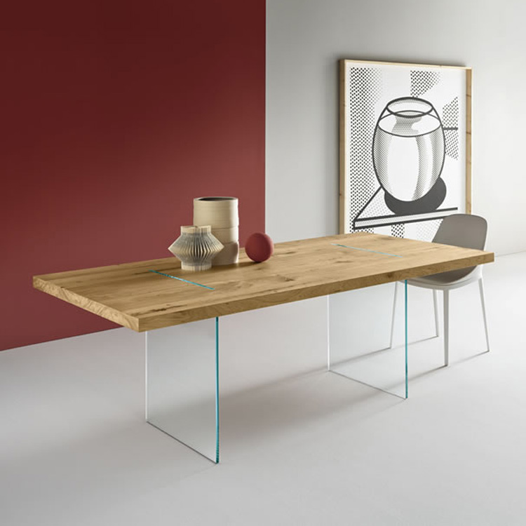 Tavolante Aged Oak dining table from Tonelli, designed by Marco Gaudenzi