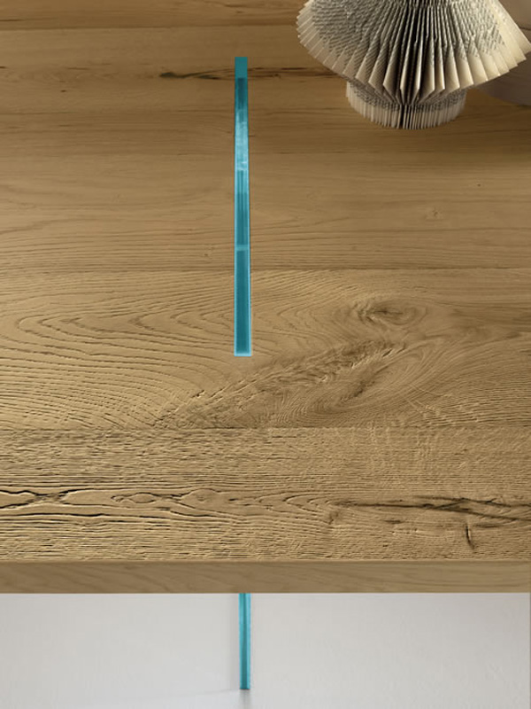 Tavolante Aged Oak dining table from Tonelli