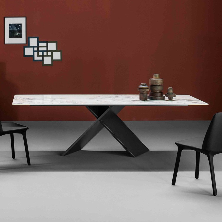Bonaldo Ax Marble Top Marble Dining Table | Contemporary ...