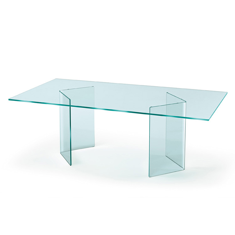 Corner dining table from Fiam