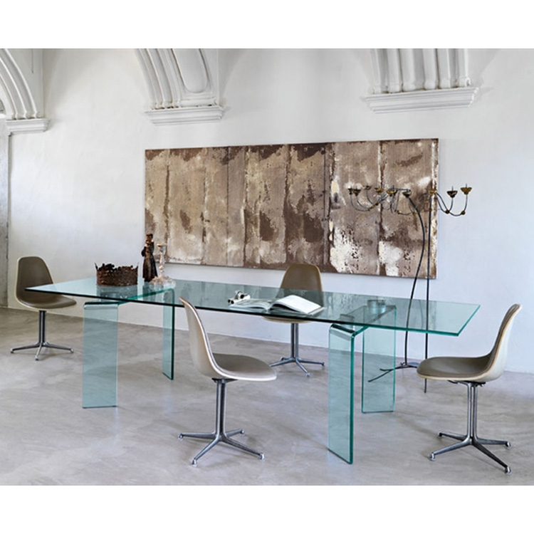 Ray dining table from Fiam, designed by Bartoli Design