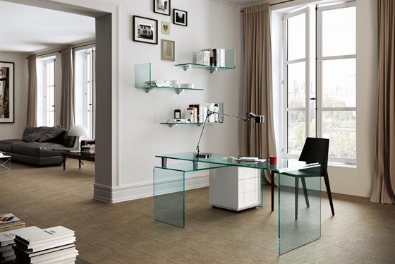Rialto Isola desk from Fiam, designed by CRS Fiam