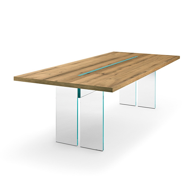 LLT Wood, dining table from Fiam