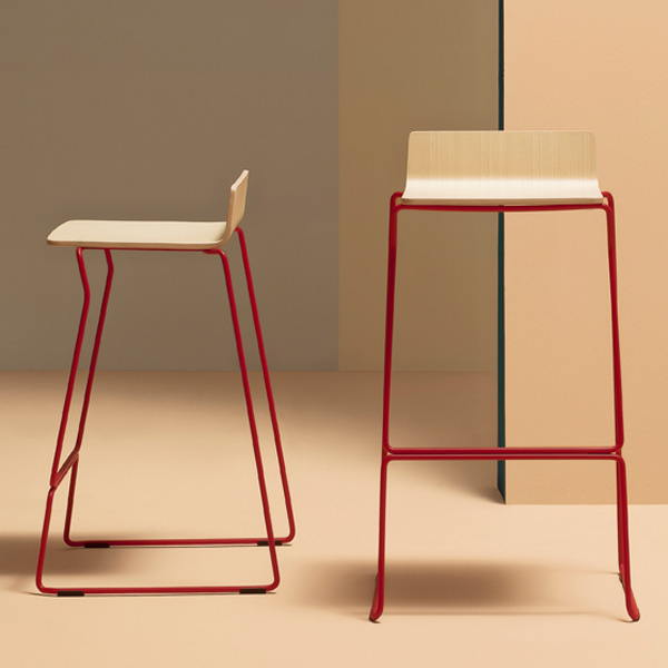 Osaka Metal 5716 5717 stool from Pedrali, designed by CMP Design