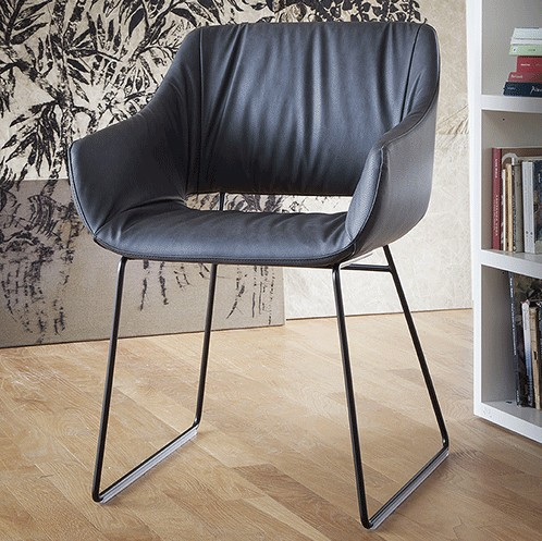 Lili Soft Sled chair from Tonon