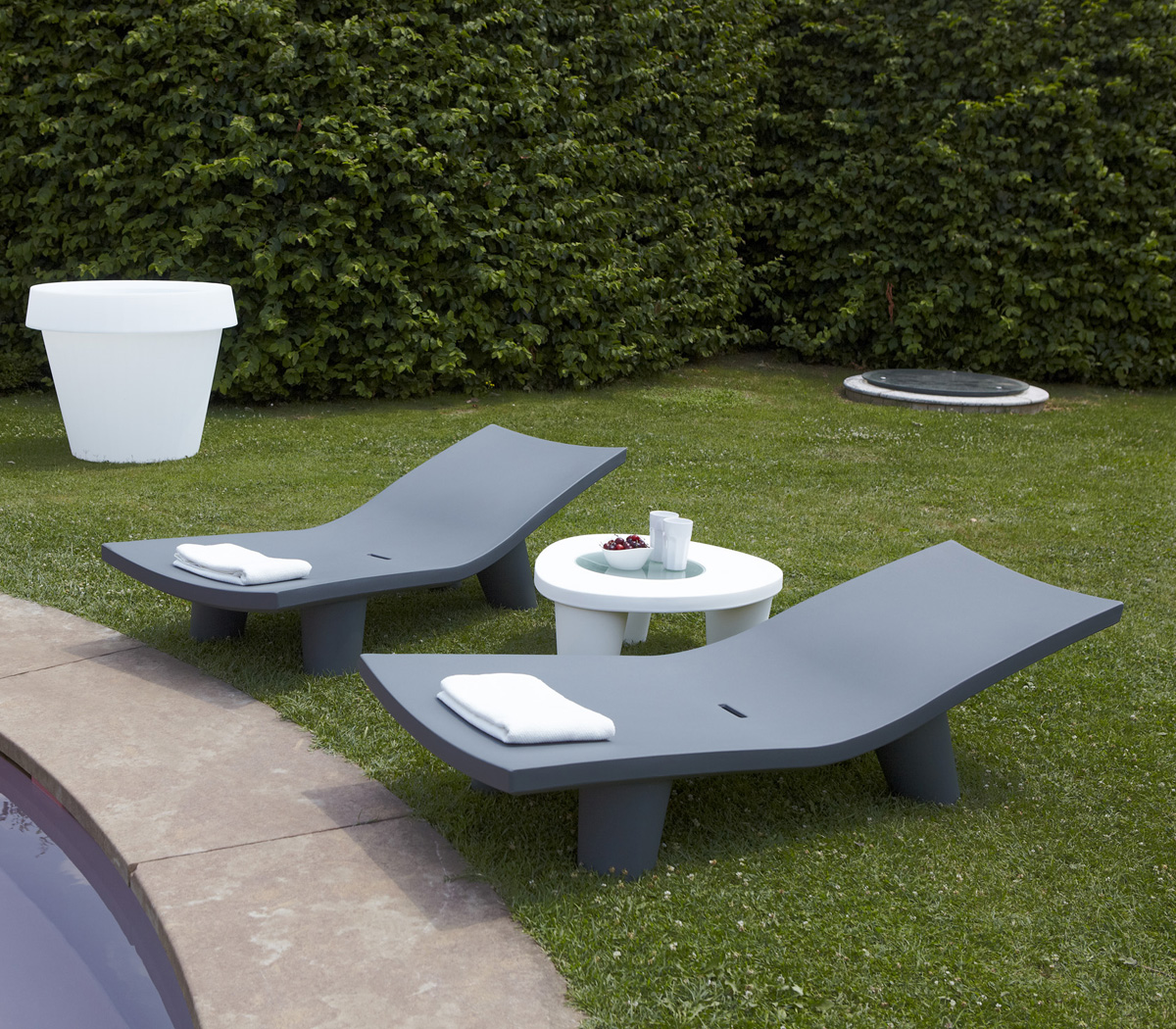 Low Lita Lounge lounger from Slide
