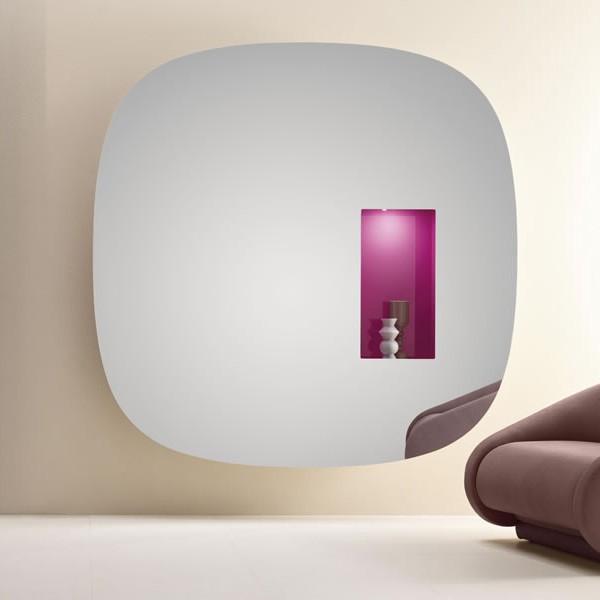 Aperture mirror from Tonelli, designed by Karim Rashid