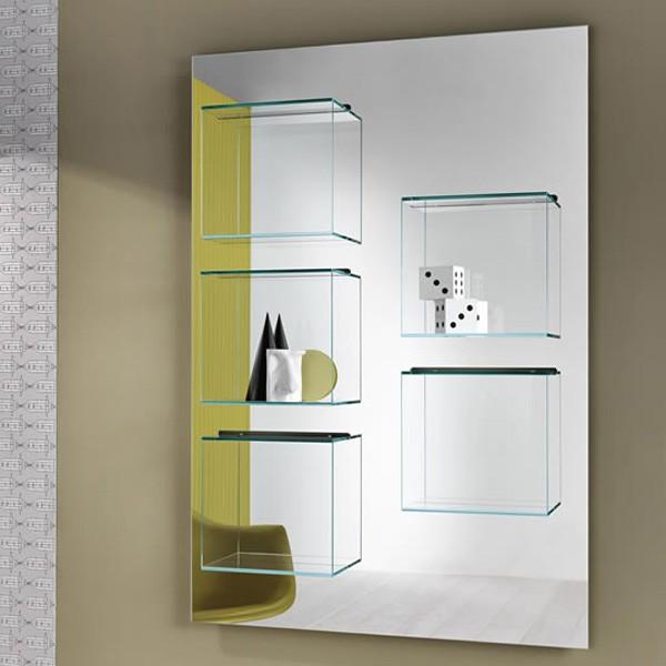 Dazibao Mirror bookcase from Tonelli, designed by Gonzo and Vicari