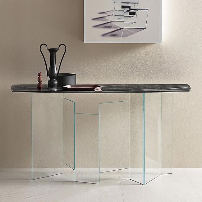 Metropolis Console Ceramic table from Tonelli, designed by G. Maurizio Scutellà