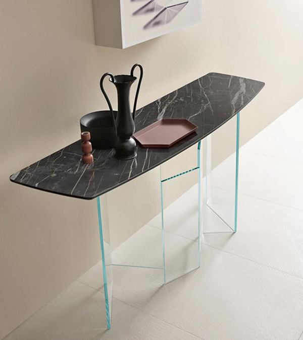 Metropolis Console Ceramic table from Tonelli