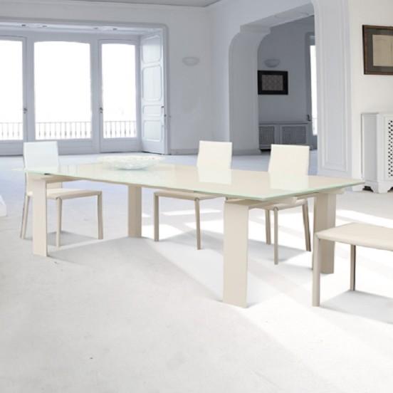 Unico Italia Modern Enigma Glass Coffee Table With Shelf: Unico Italia Inedito