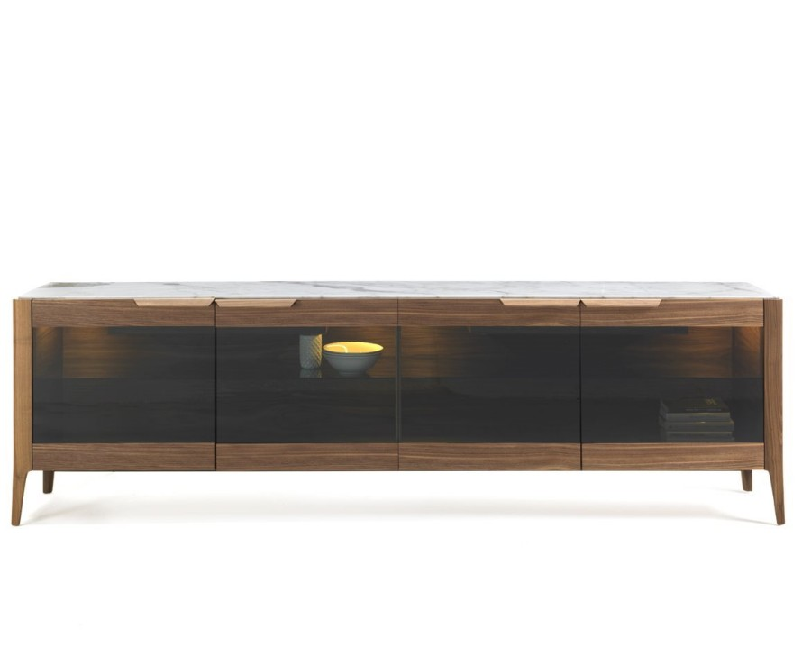 Atlante 4 Glass dining table from Porada