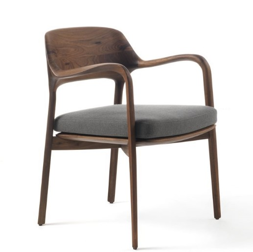 Ella chair from Porada, designed by Patrick Jouin