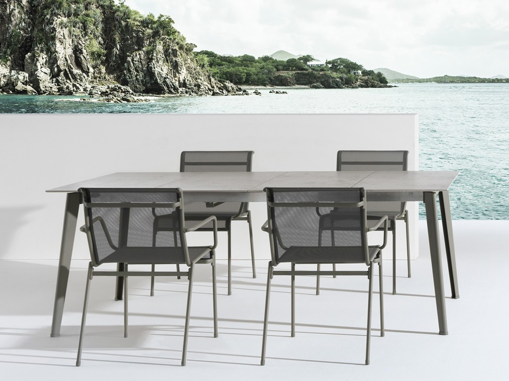 Kira Dining Table 692 Fixed from Emu, designed by Christophe Pillet