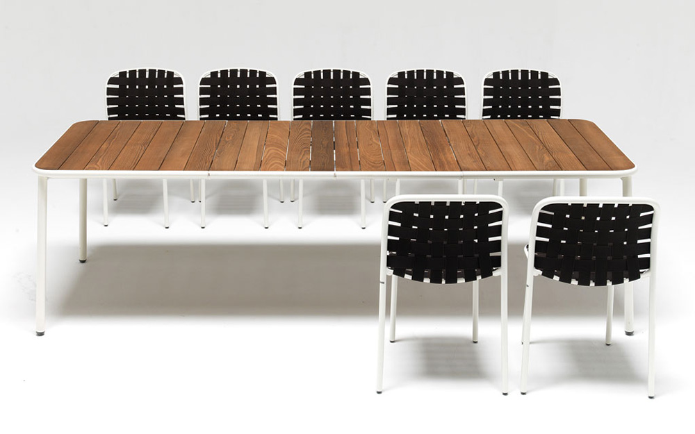 Yard Dining Table (Wood Top) from Emu, designed by Stefan Diez