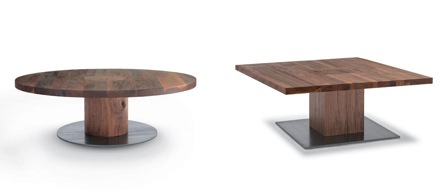 Boss Executive Small Quadrato & Tondo coffee table from Riva 1920, designed by C.R. & S. Riva 1920