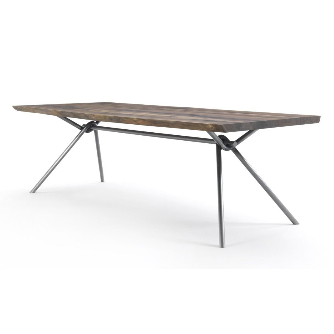 Iron Natural Sides dining table from Riva 1920