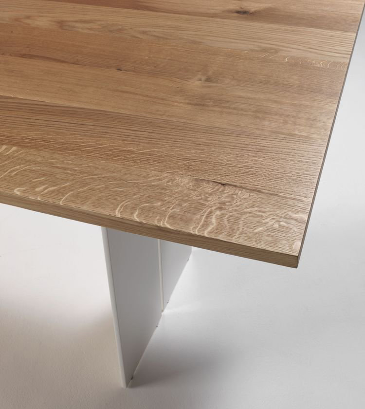 Natura Natural Sides dining table from Riva 1920, designed by C.R. & S. Riva 1920