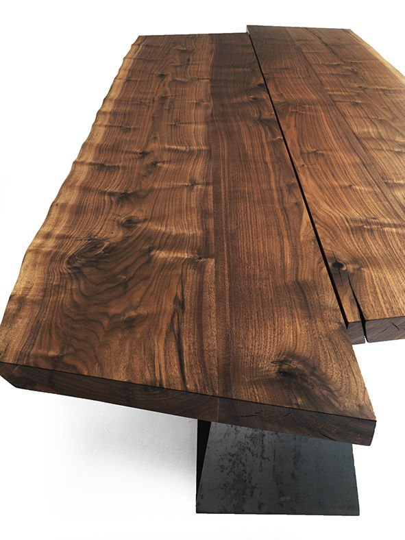 Bedrock Plank B dining table from Riva 1920, designed by Terry Dwan