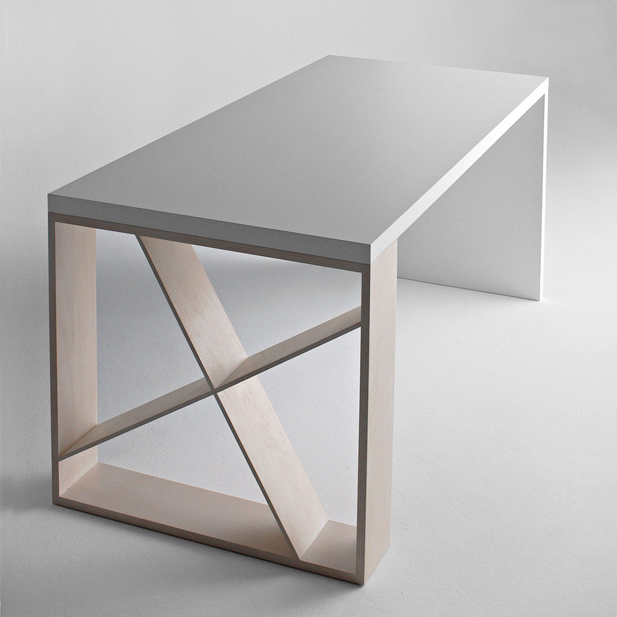 J Table desk from Horm, designed by Jean-François Gomrée