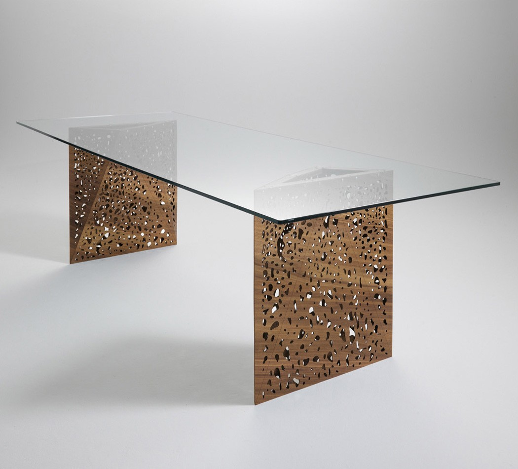 Riddled Table dining from Horm, designed by Steven Holl