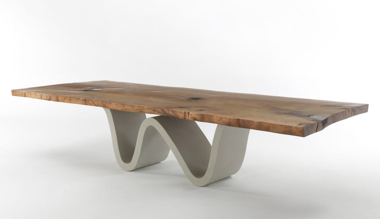 Auckland Bree E Onda dining table from Riva 1920, designed by C.R. & S. Riva 1920
