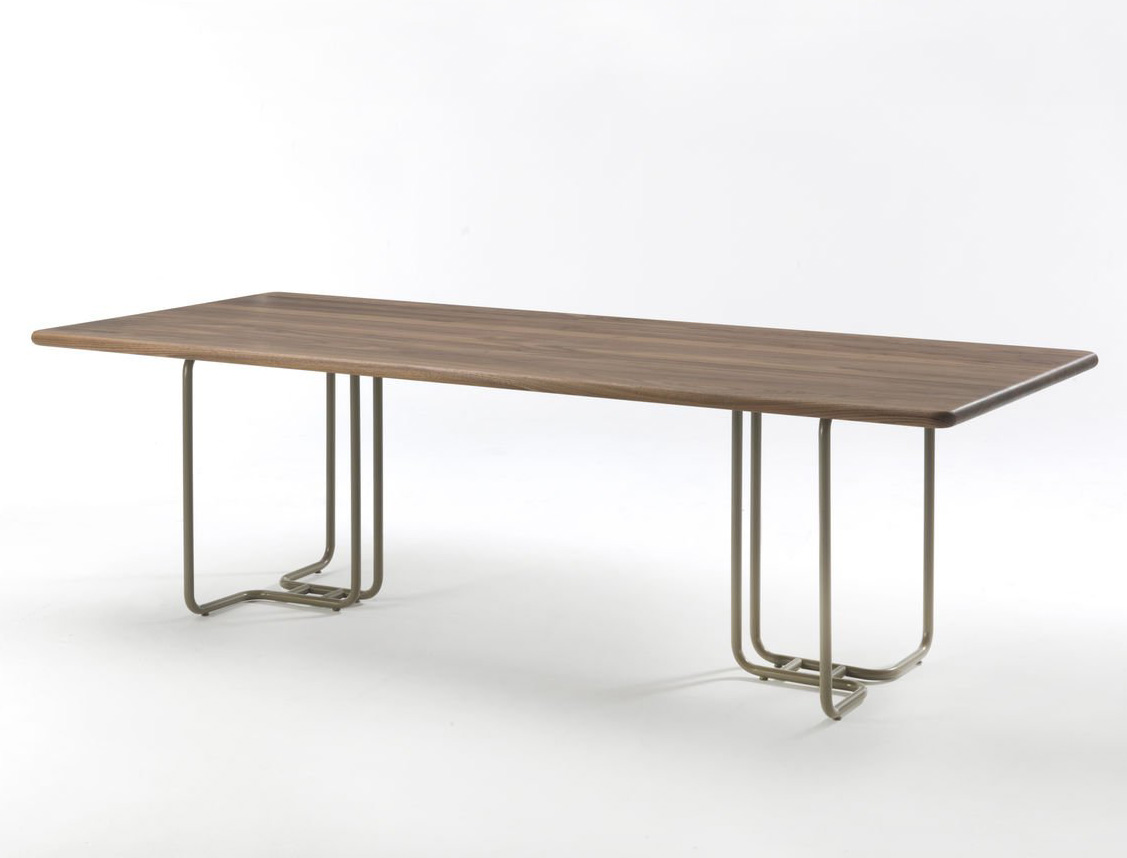 Tubular dining table from Riva 1920, designed by Jamie Durie