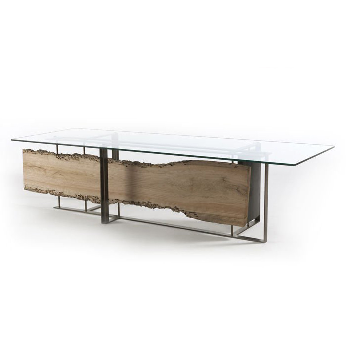 Cornice dining table from Riva 1920, designed by Luca Scacchetti